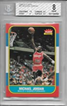 1986 Fleer Basketball Complete 132 Card Set with Michael Jordan Rookie Graded Beckett 8 NRMT to Mint