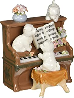 Cosmos 80096 Fine Porcelain Dogs and Piano Musical Figurine, 5-1/4-Inch