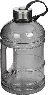 مجموعة زجاجات اللياقة من روف، سعة عالية خالية من البيسفينول، سعة 1.8 لتر، وعاء مياه رمادي اللون سعة 1.7 لتر، سعة 1.8 لتر