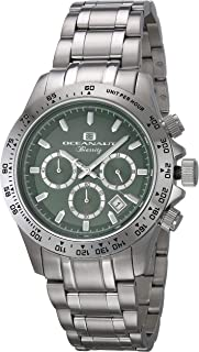 ساعة اوشينت بياريتز للرجال انالوج كوارتز مع سوار من الستانليس ستيل، فضي، 20 (OC6112)