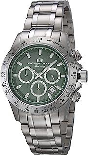 Oceanaut Men's Biarritz Analog-Quartz Watch with Stainless-Steel Strap, Silver, 20 (Model: OC6112)