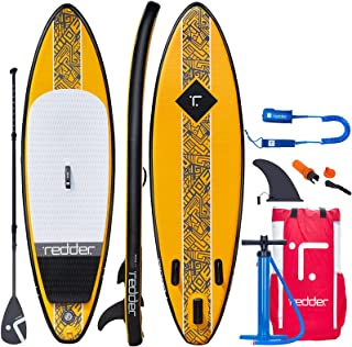 redder Inflatable Stand Up Paddle Board for Beginners with Premium SUP Accessories, Lightweight Paddle, Hand Pump, Fins, L...