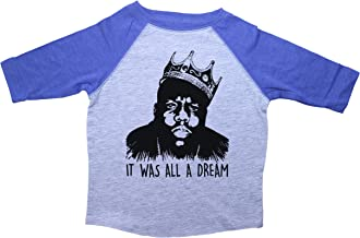Biggie Smalls Inspired Raglan Toddler Tee/IT was All A Dream/Notorious Big