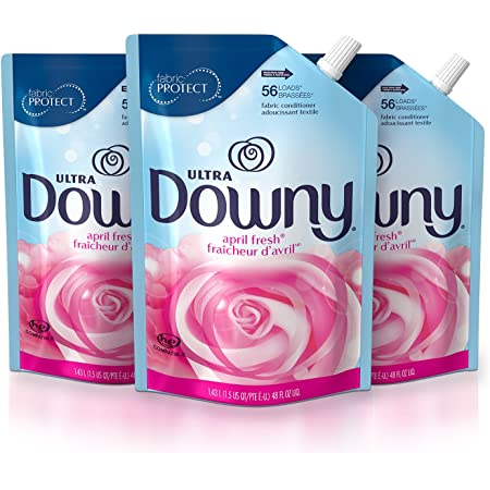 Downy Ultra Liquid Laundry Fabric Softener, April Fresh Scent, 168 Total Loads (Pack of 3)