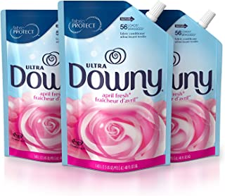 Sponsored Ad - Downy Ultra Liquid Fabric Conditioner (Fabric Softener), April Fresh, 48 Oz Smart Pouches, 3 Pack, 168 Load...