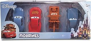 Beverly Hills Teddy Bear Company Disney Cars Themed 4 Pack Playset (Lightning McQueen, Mater, Finn McMissle, Sally)