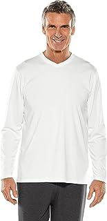 Coolibar UPF 50+ Men's Long Sleeve Everyday V-Neck T-Shirt - Sun Protective