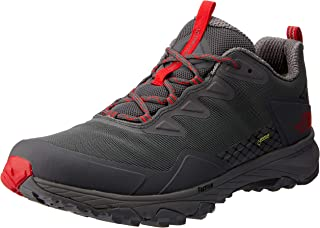 The North Face Men's Ultra Fastpack Iii GTX Trekking & Hiking Shoes, Blkened Pearl/TNF Red, 10.5 US
