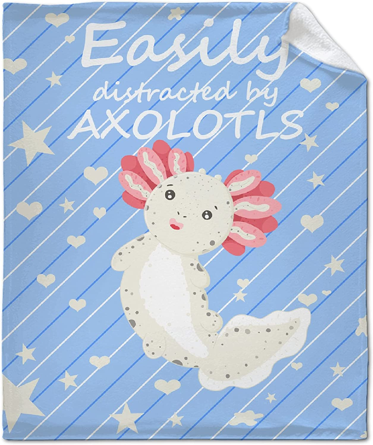 Easily Distracted by Rapid rise Axolotls Throw Mexican Manufacturer regenerated product Salamander Blanket
