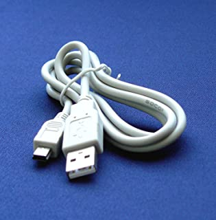 USB Cable Lead Cord for Canon IFC-400PCU IFC-400 Powershot + Ixus A570, A580, A590 is, A590is, A610, A620, A630, A640, A650 is, A650is, A700, A710is, A710 is, A720is, A720is, A1100is, A1100 is, A2100is, A2100 is, A4000 is, A3400 is, A2400 is, A2300, A1300, A810, SX100 is Digital Camera – 2.5 Feet white – Bargains Depot®
