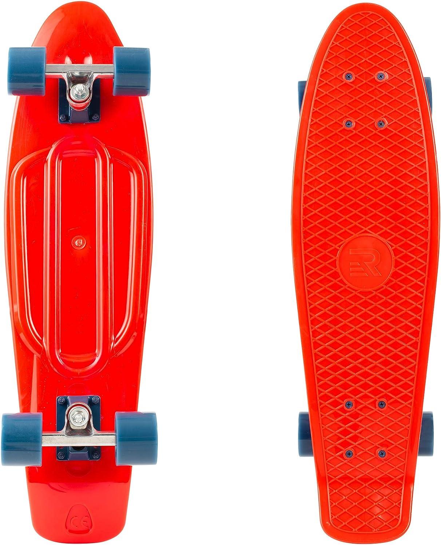 Retrospec Quip Skateboard 22.5 Classic Retro Plastic Cruiser Complete Skateboard