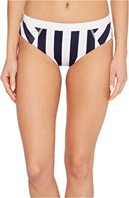 IslandActive Stripe High-Waist Bikini Bottom