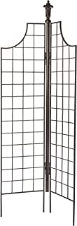 H Potter Metal Garden Screen Trellis for Climbing Plants for Privacy Garden Flowers Vines Roses Clematis