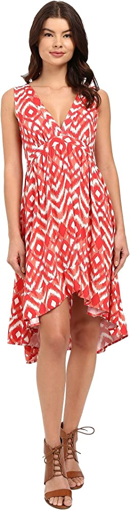 Brianna Jallabah Printed Rayon Dress