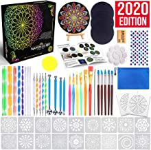 Insnug Mandala Dotting Tools Painting Kit - Rock Dot Paint Stencils Tool Set Art Craft Supplies Kits with Tray Brush Zippe...