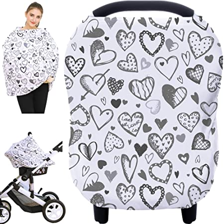 Boho feather fawn car seat canopy car seat cover infant carseat cover nursing cover girl carseat cover carseat blanket