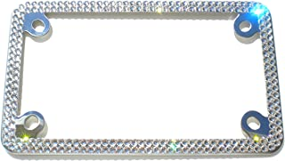 Cool Blingz 2 Row Motorcycle Crystal License Plate Frame Rhinestone Bling with Swarovski Crystals