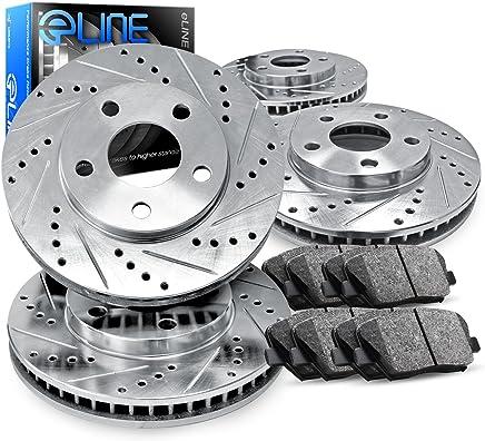 [COMPLETE KIT] eLine Drilled Slotted Brake Rotors & Ceramic Pads CEC.6209202