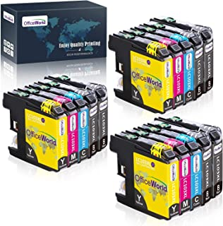 OfficeWorld Compatible Ink Cartridge Replacement for Brother LC103 LC101 LC103XL LC101XL LC103BK LC103C LC103M LC103Y (15 ...