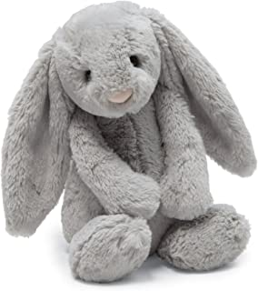 Jellycat Bashful Grey Bunny Stuffed Animal, Small, 7 inches