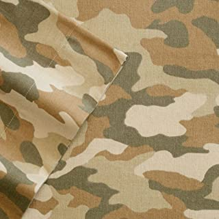 Cuddl Duds Camo Camouflage Flannel Sheet Set King