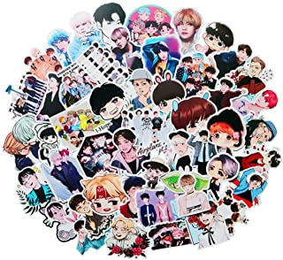 Pop Singer BTS Stickers 50PCS for Laptop and Water Bottles,Waterproof Durable Trendy Vinyl Laptop Decal Stickers Pack for ...