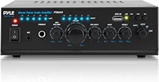 Pyle 2X120 Watt Home Audio Power Amplifier - Portable 2 Channel Surround Sound Stereo Receiver w/ USB IN - For Amplified S...