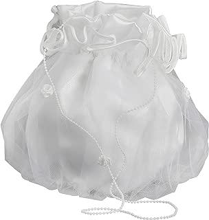 Boutique-Magique Sac bourse mariage communion blanche dentelle