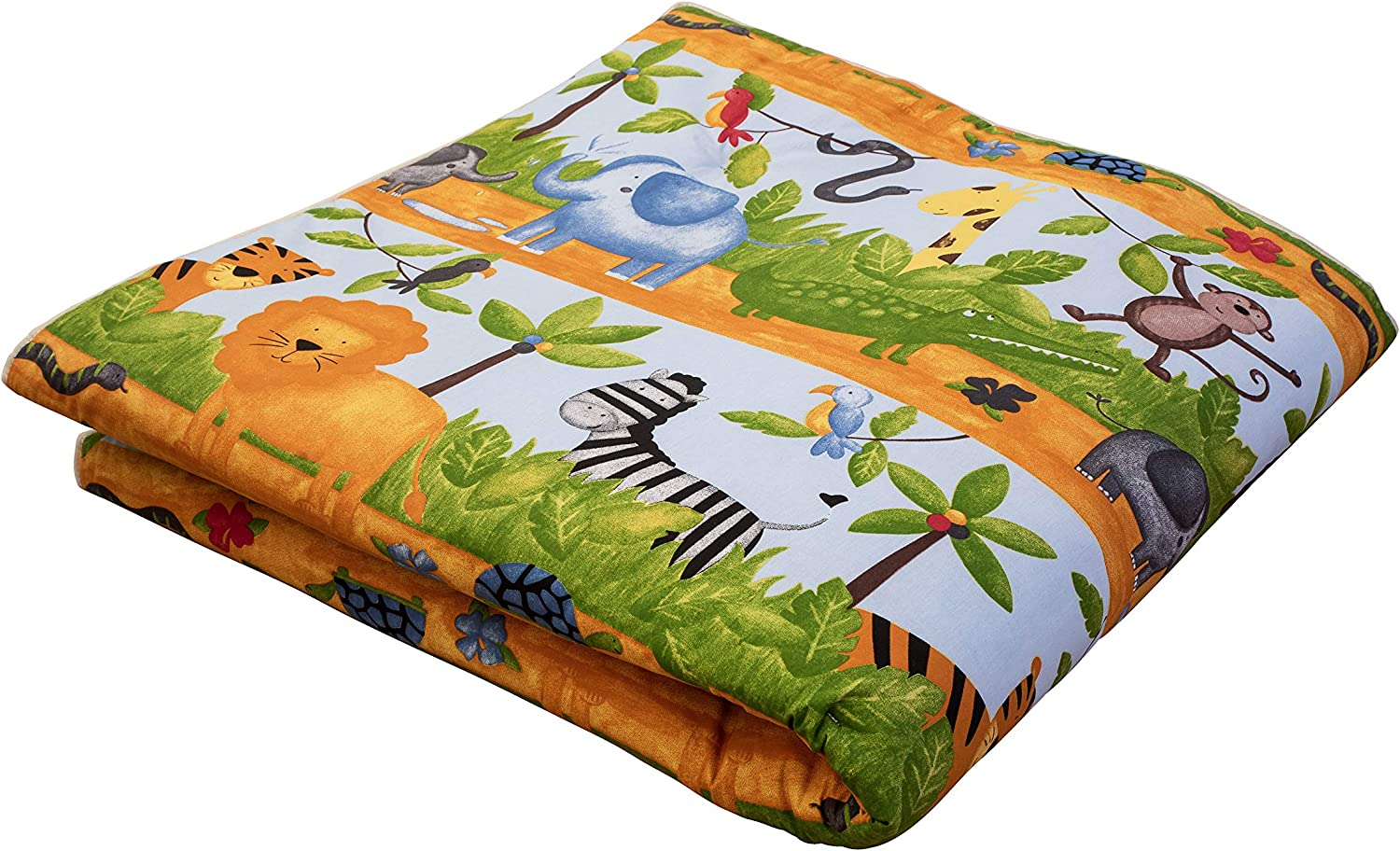 Ideenreich 20083 Crawling and Playing Blanket   King Size   135 x 190 cm   with Jungle Animals Motif