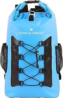 Waterproof Dry Bag Backpack, 25L, 500D Tarpaulin Material, Adjustable Shoulder Straps, Padded Back Pad, Bottle Holders, Bungee Cargo, Lightweight, Perfect Hiking Backpack/Daypack