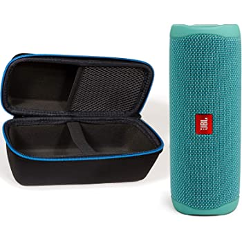 JBL Flip 5 Waterproof Portable Wireless Bluetooth Speaker Bundle with divvi! Protective Hardshell Case - Teal