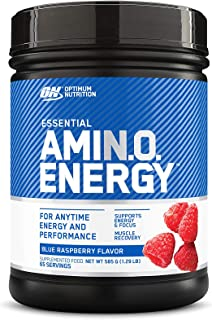 Optimum Nutrition Amino Energy Blue Raspberry Anytime Energy and Amino Acids, 65 Servings