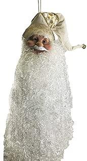 Seasons Designs Long Bearded Santa Claus Holiday Ornament (Gold Hat)