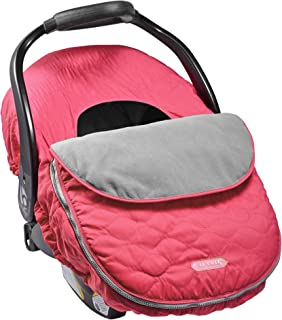 JJ Cole Car Seat Cover, Bright Pink Sassy Wave