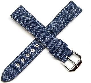 Lucien Piccard 16MM Denim Blue Genuine Leather Watch Strap 7.5