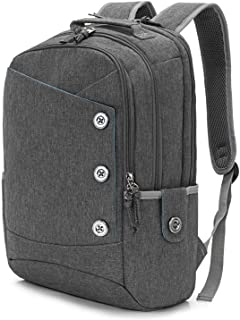 KINGSLONG Laptop Backpack Women Men 15.6 for Travel Work Computer Backpack Gray