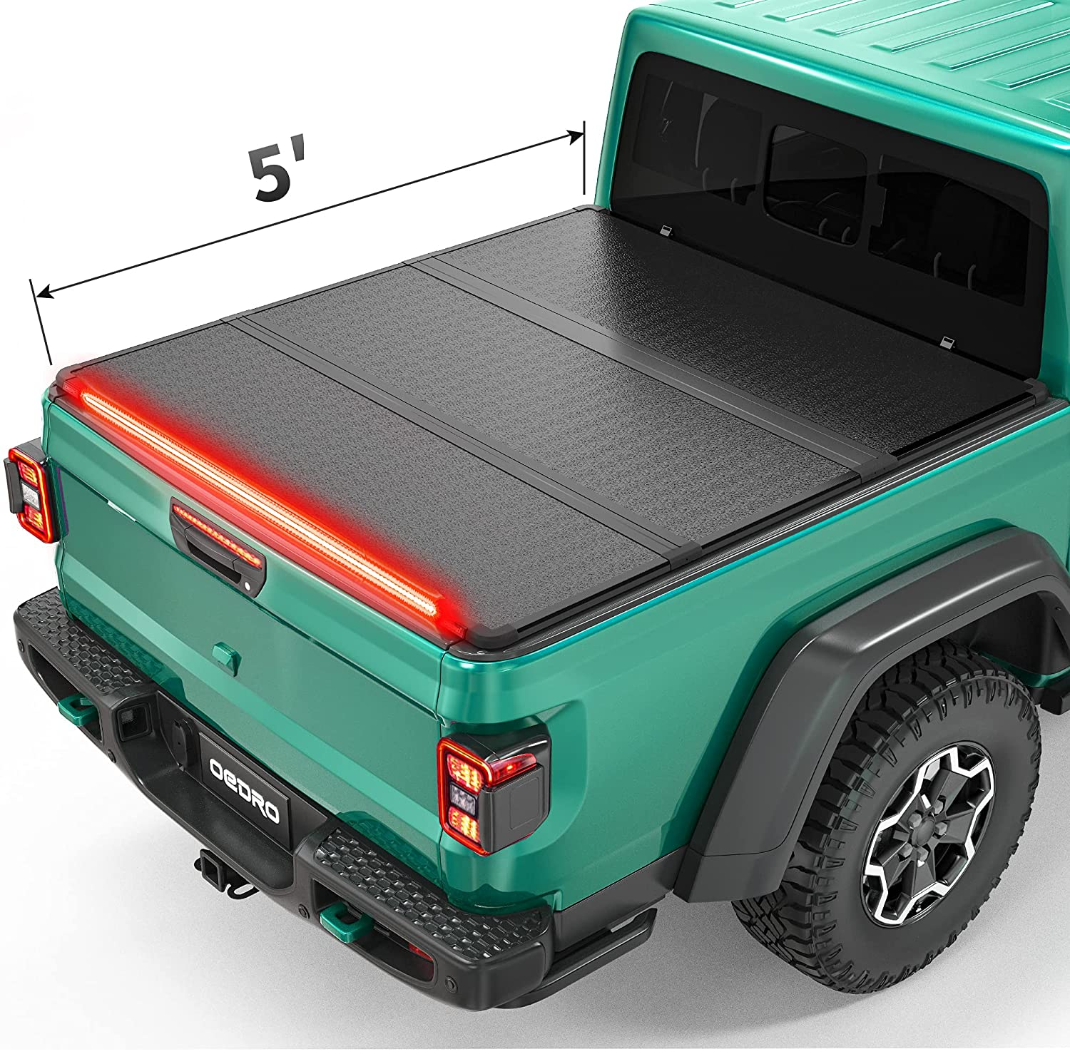 oEdRo Hard Folding Tonneau New color 2021 autumn and winter new Cover Trif Strip with Light Built-in
