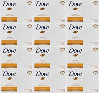 Dove Argan Oil Beauty Bar Soap, 4.75 Oz / 135 Gr (Pack of 12 Bars)