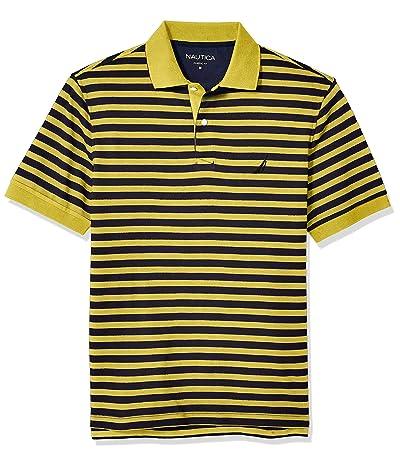 Nautica Classic Fit 100% Cotton Soft Short Sleeve Stripe Polo Shirt