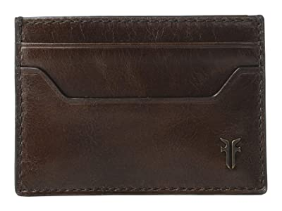 Frye Austin Card Case (Dark Brown) Handbags
