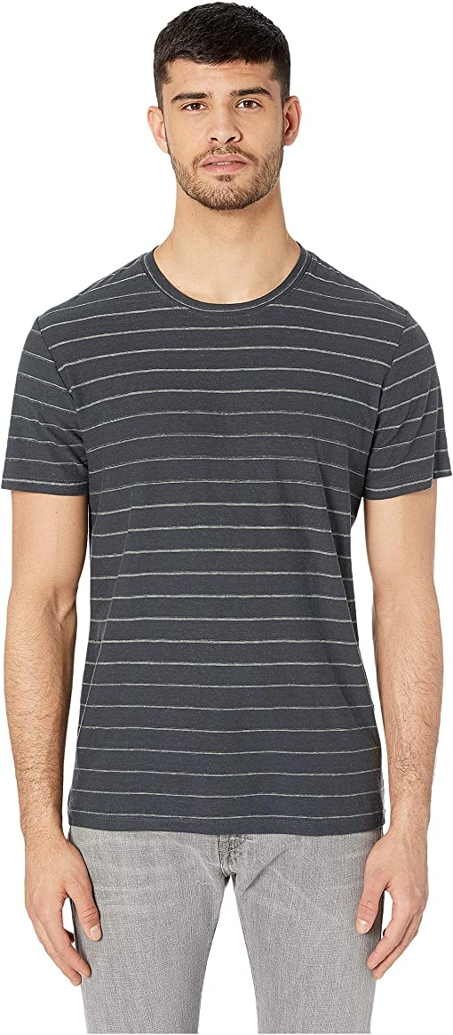 Charcoal Slub Stripe