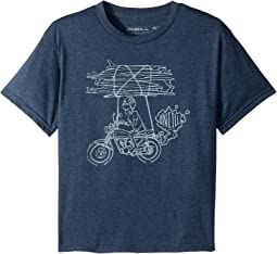 O'Neill Kids - Rider Short Sleeve Tee Screens Imprint (Big Kids)