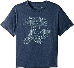 O'Neill Kids - Rider Short Sleeve Tee Screens Imprint (Big Kids)