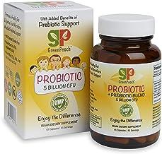GreenPeach Vegan Probiotic Blend, 5 Billion CFU Added Prebiotic. Helps Maintain and Restore The Natural Balance of intesti...