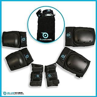 Equipo Protector PS200 de Bluewheel para patinetas, Patines en línea, Bicicletas BMX, monopatines; Kit Protector con óptima regulación de Ajuste y un Agarre Firme para niños y Adultos