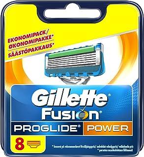 Gillette Fusion ProGlide Power - Cuchillas de recambio para maquinilla de afeitar (8 unidades), color azul