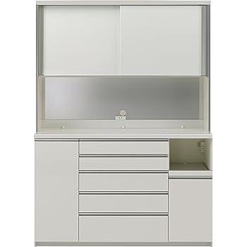 パモウナ 食器棚WG パールホワイト 幅160×高さ214×奥行50 日本製 WGR-1600R