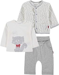 Kanz 3tlg. Set (Jacke + T-Shirt 1/1 Arm + Jogginghose) Conjunto de Ropa, Multicolor (y/d Stripe/Multicolored 0001), 1 Mes ...