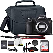 $1205 » Canon EOS 5DS DSLR Camera (Body Only) (0581C002) + Canon EOS Bag + Sandisk Ultra 64GB Card + Cleaning Set and More (International Model)