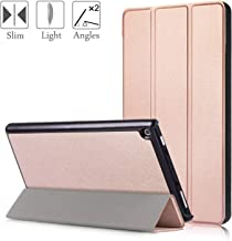 All New Amazon Fire HD 8 Case,Slim-Fit Lightweight Trifold Cover Stand,xinyitong Smart Cases with Auto Sleep/Wake for Fire HD 8 Tablet(7th Generation, 2017,2018 Release)(Rose Gold)